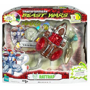 BEAST WARS 10th Anniversary: RATTRAP Figure with Bonus DVD