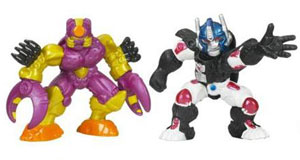 Universe Robot Heroes - Optimus Primal and Predacon Tarantulus