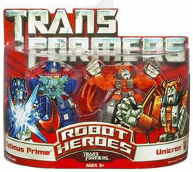 Robot Heroes: Optimus Prime and Unicron
