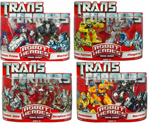 Transformer Robot Heroes Series 3 Set of 4