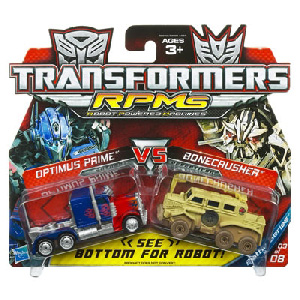 RPMs - Optimus Prime VS Bonecrusher