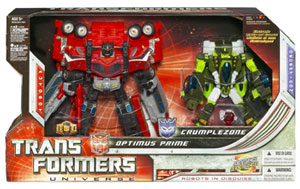 Universe Voyager: Optimus Prime and Crumplezone Exclusive 2 Pack