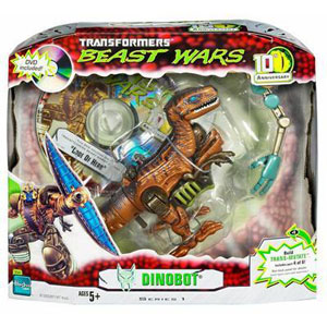 BEAST WARS 10th Anniversary: DINOBOT Figure with Bonus DVD