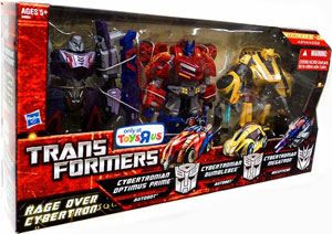 Transformers Exclusive - 3-Pack Rage Over Cybertron - Optimus Prime, Megatron, Bumblebee