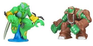 Universe Robot Heroes - Waspinator and Rhinox
