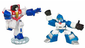 Robot Heroes: Starscream and Mirage
