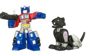Robot Heros: Optimus Prime and Ravage