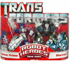 Robot Heroes: Optimus Prime Vs Blackout