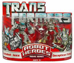 Robot Heroes: Autobot Jazz Vs Frenzy