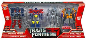 Movie Leader: Optimus Prime, Legends Bumblebee and Jazz