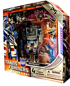 2009 SDCC Exclusive 25th Anniversary - Soundwave with Buzzsaw, Laserbeak, Ratbat and Ravage