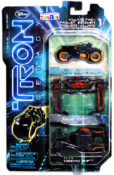 Tron Legacy Exclusive - VILLAIN Vehicle 3-Pack [Recognizer, Clu Light Cycle, Clu Command Ship]