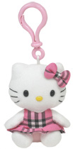 Hello Kitty Pink Tartan - CLIP