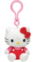 Hello Kitty Red Overalls - CLIP