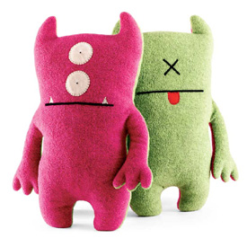 Bop N Beep Pink and Green 13-Inch Plush
