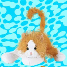 Webkinz Gold and White Cat