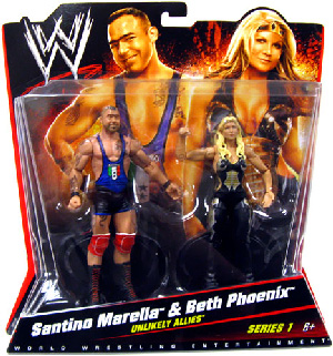 Mattel WWE - 2-Pack: Santino Marella and The Glamazon Beth Phoenix