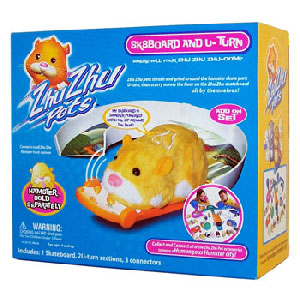 Zhu Zhu Pets Hamster - Sk8Board and U-Turn [Hamster NOT Included]