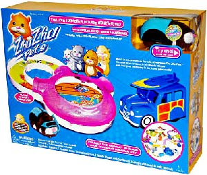 Zhu Zhu Pets Hamster - House Starter with Scoodles in Scuba Gear, Woody Wagon, Surfboard