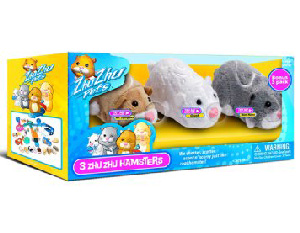 Zhu Zhu Pets Hamster - 3-Pack - Mr Squiggles, Chunk, Num Nums