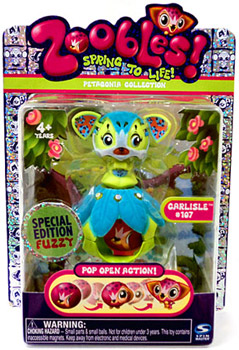 Zoobles Petagonia Animal Mini Special Edition Fuzzy Carlisle 107