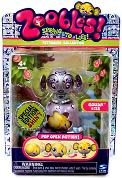 Zoobles Petagonia Animal Mini Special Edition Fuzzy Gouda 112