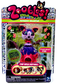 Zoobles Petagonia Animal Mini Special Edition Fuzzy Tyler Belle 108